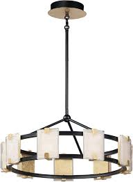 Contemporary drum lighting Lowes Maxim 39535cybkgl Radiant Contemporary Black Gold Leaf Led 27 Affordable Lamps Maxim 39535cybkgl Radiant Contemporary Black Gold Leaf Led 27