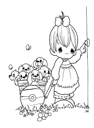 Coloring Pages Pretty Precious Moments Coloring