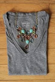 Image result for fuschia necklace navy top
