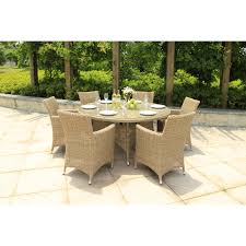 rattan garden furniture set 6 seat