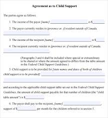 a child support by agreement law and daily life sample child support agreement child support agreement letter child support agreement letter