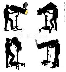 Follow Spot Operator Silhouettesのイラスト素材 25837100 Pixta