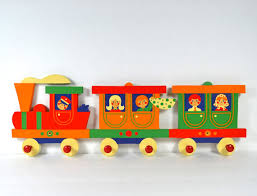 Train Coat Rack Heller Child's Clothes Rack w 100 pegsWood Train Coat Rack in 52