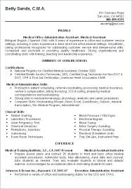 Sample Resume For Certified Medical Assistant. Example Medical ...