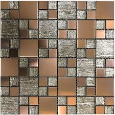 lunar copper metal glass modular mosaic