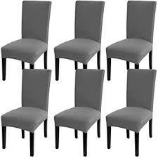 fuloon super fit stretch removable washable short dining chair protector cover seat slipcover for hotel dining room ceremony banquet wedding party 6 per