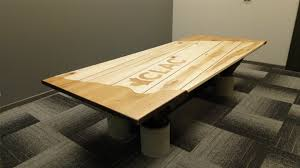 Boardroom Table Designs Wooden Top Boardroom Table With I Beam Frame And Concrete