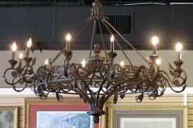 huge chandelier rod iron
