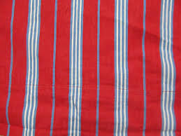 pottery barn kids pair of red lined curtains blue white stripes 44 x