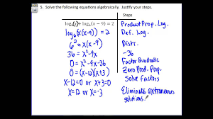 precalculus 3 4 day 2 solving logarithmic equations