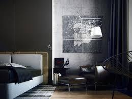 Masculine Modern Bedroom Masculine Bedroom Gray Small Bed And Modern Desk Dark Bedside