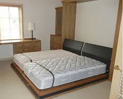 King Size Bed Frame Two Twin Mattresses Murphy Beds 100 Custom By  FlyingBeds 9
