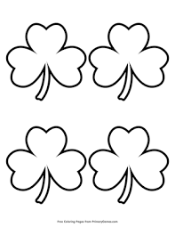 Staple the pages together at the left of the page, then read the book, count the shamrocks, write the phrases, and color the shamrocks. Simple Shamrock Outline 4 Coloring Page Free Printable Pdf From Primarygames