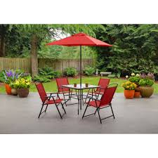 outdoor patio table sets best of mainstays albany lane 6 piece folding dining set multiple colors