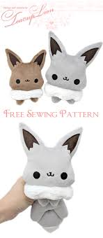 Free Plushie Patterns New Free Eevee Plushie Sewing Pattern And ITH Machine Embroidery Pattern
