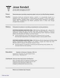 Cna Resume Templates Free Nevacommongroundsapexco
