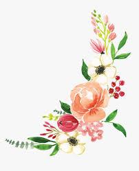 flower corner print cut file flower