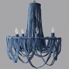 coco beaded chandelier denim blue relish decor