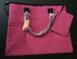 Details about Travelgear Nylon Quilted Travel Tote Pink 18