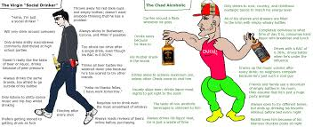 Vs Alcoholic Chad Virgin