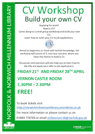 build your own cv workshop vernon castle room norwich apr  build your own cv workshop