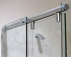 image of frameless sliding shower doors bottom seal