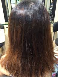 before the hair coloring treatment