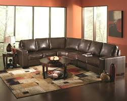 dark brown sectional couch colton sofa leather two tone tan and microfiber