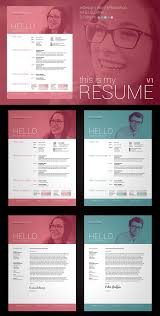 Modern Contemporary Resume Cover Letter Portfolio Word Photoshop Indesign Resume Cover Letter Template