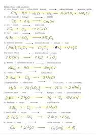 balancing chemical equations worksheet answer key 1 20