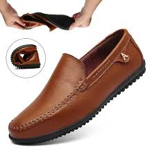 summer flexible driving shoes mens breathable slip on flats loafers handmade leather moccasins boat shoes big