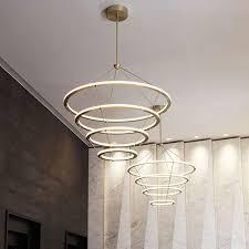 contemporary chandelier steel acrylic led halo by paul loebach