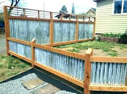 Image Rusted Sheet Metal Fence Designs Ducksdailyblog Fence Sheet Metal Fence Designs Ducksdailyblog Fence How To Tighten