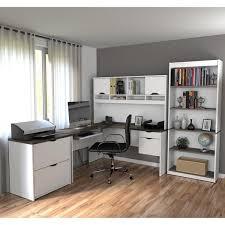 bestar innova l shaped workstation desk set