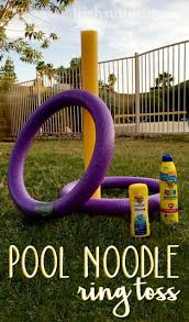 best diy backyard pool noodle ring toss cool diy yard game ideas for