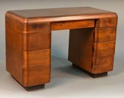1940's Paul Goldman Bent Plywood Desk for Plymold Corp