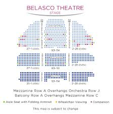Explicit Seating Chart For Broadway Theatre New York The