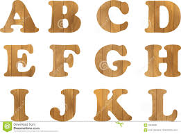 Wooden Letters Design Wooden Alphabet Vector Set With Wood Letters For Text Message