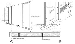 sheet rock dry wall sections and