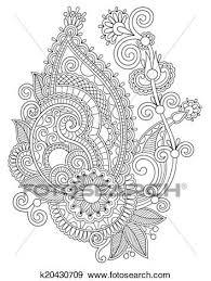 オリジナル デジタル ドロー 線画 華やか 花 デザイン クリップアート