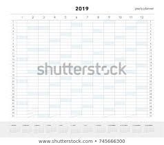 Yearly Planner 2019 Calendar Companies Private Stock Vector Royalty