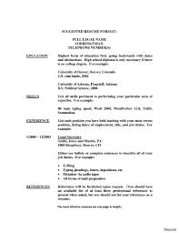 Education On Resume Resume With Only High School Education Profesional Resume Template 85