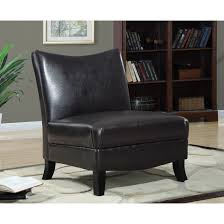 Leather Accent Chair With Ottoman Dark Brown Leather Look Accent Chair Free Shipping Today