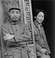 chinoiresie saint mao mao zedong and zhou enlai at yan an in the mid 1930s