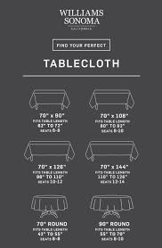 tablecloth size calculator williams