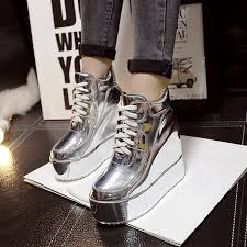 <b>SWYIVY</b> Quality Sneakers Woman Platform 2018 Autumn High Top ...