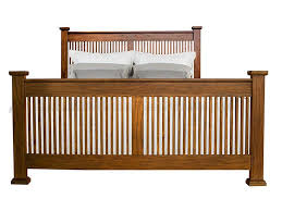 AAmerica Mission Hill King Slat Bed with Posts | Wayside Furniture ...