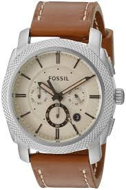 fossil machine leather mens watch fs5131 image is loading fossil machine leather mens watch fs5131