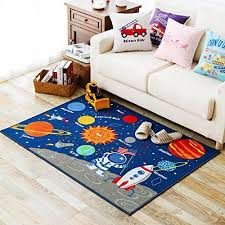 rug on carpet nursery. Blue Kids Fun Area Rug Nursery Rugs Solar System Children Carpet Educational Learning 100* On R