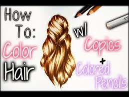 tutorial how to draw realistic hair with colored pencils you book drawingdrawing